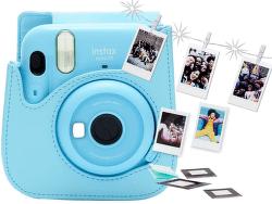 Fujifilm Instax Mini 11 modrý set s puzdrom a fotopapierom