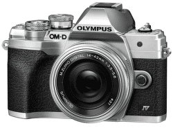 Olympus OM-D E-M10 Mark IV strieborný + 14-42 mm f/3,5-5,6 EZ-M1442EZ Pancake