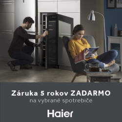 5-ročná záruka na spotrebiče Haier
