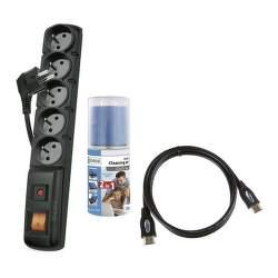 EMOS P53871S Kit prepäťová ochrana + HDMI kábel + čistič