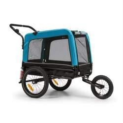 Klarfit Husky Vario príves na bicykel pre psov modrý
