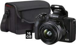 Canon EOS M50 Mark II + EF-M 15-45mm IS STM + SB130 + karta 16GB čierny