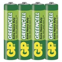 GP Greencell AAA zinkové batérie 4ks