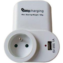 SOLIGHT DC23, USB nabíjačka so zásuvkou + držiak na telefón