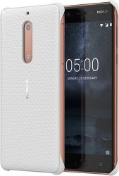 NOKIA Carbon Fibre Design puzdro pre Nokia 5, biela