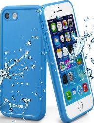 SBS vodeodolné puzdro pre iPhone 8/7, modrá