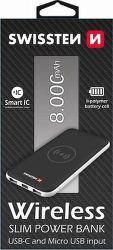 Swissten powerbanka USB-C 8000 mAh, čierna