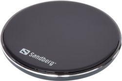 Sandberg Alu Pad 10W bezdrôtová nabíjačka, čierna