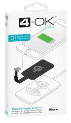 4-OK Lightning prijímač pre bezdrôtové nabíjanie čierny