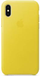 Apple kožený kryt pre iPhone X, jarne žltý
