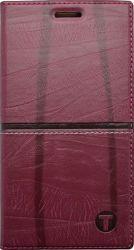 Mobilnet Luxury knižkové puzdro pre iPhone 7, červené