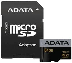 ADATA Premier Pro microSDXC 64GB UHS-I U3 + adaptér
