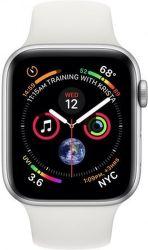 Apple Watch Series 4 40mm strieborný hliník/biely športový remienok