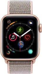 Apple Watch Series 4 40mm zlatý hliník/ružový prevliekací športový remienok