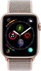 Apple Watch Series 4 44mm zlatý hliník/ružový prevliekací športový remienok