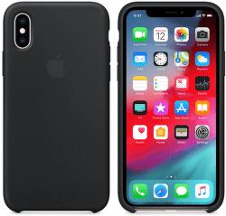 Apple silikónový kryt pre iPhone XS, čierny