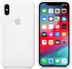 Apple silikónový kryt pre iPhone XS, biely