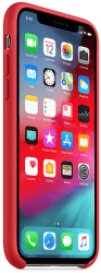 Apple silikónový kryt pre iPhone XS, (PRODUCT)RED