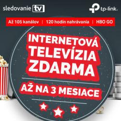Internetová televízia zadarmo k vybraným produktom od TP-LINK