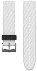 Garmin QuickFit 22 remienok, biely so striebornou sponou