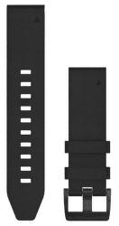 Garmin QuickFit 22 kožený remienok, čierny