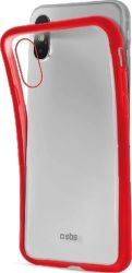 SBS silikónové puzdro pre Apple iPhone Xs, červené