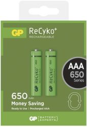 GP ReCyko+ 650 mAh HR03 (AAA), 2 ks