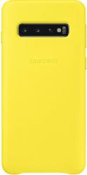 Samsung Leather Cover pre Samsung Galaxy S10, žltá