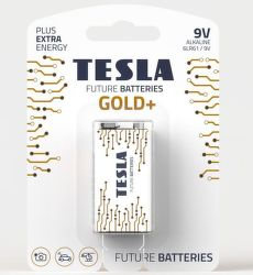 TESLA GOLD+ 9V 1ks, 9V batéria
