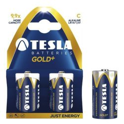 TESLA GOLD+ LR14 2ks, alkalická batéria