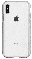 Spigen Liquid Crystal Glitter puzdro pre Apple iPhone X a Xs, transparentná