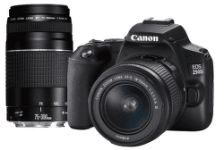 Canon EOS 250D + 18-55 mm DC III + 75-300 mm DC III