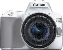 Canon EOS 250D biely + Canon EF-S 18-55mm f/4-5,6 IS STM