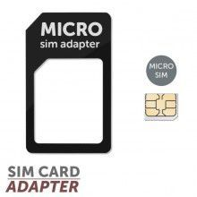 MOBILNET Čierny Micro SIM adaptér (Micro SIM-SIM)