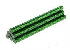 TOPEX Lepiace tyčinky, zelená, brokát, 6 ks, 8 mm x 100 mm