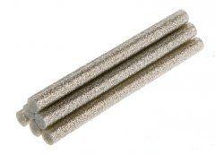 TOPEX Lepiace tyčinky, strieborná, brokát, 6 ks, 8 mm x 100 mm