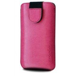FIXED Puzdro Soft Slim so zatváraním, PU kože, veľkosť 4XL, ružové