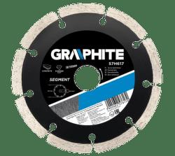 GRAPHITE Diamantový kotúč, 230 22.2 mm, segmentový