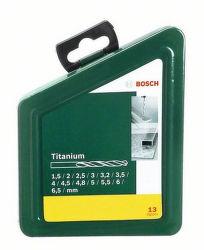 BOSCH 13 dielna sada titanových vrtákov do kovu HSS-R