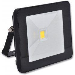 Ecolite LED reflektor - COB, 20W, IP65, 4100K (čierny)