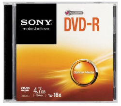 Sony DVD-R 4,7GB, 16x, 1ks