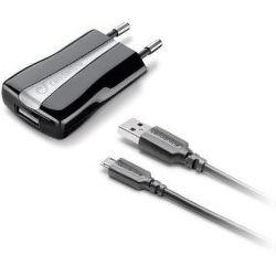 CellularLine Set sieťovej nabíjačky a dátový kábel microUSB