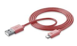 CellularLine Style&Color datový kabel Lightning, ružová