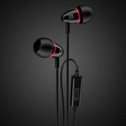 Strudo stereo handsfree s 3,5 mm konektorom, čierno-červená