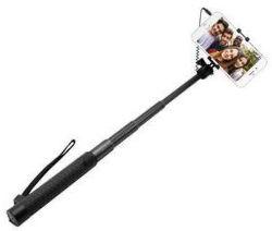 Fixed hliníková selfie tyč s 3,5 mm konektorom, čierna