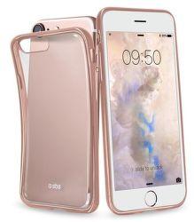 SBS puzdro pre iPhone 7 (transparent ružovo zlatý)