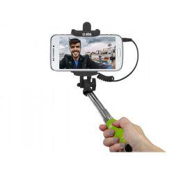 SBS mini selfie tyč s 3,5 mm konektorom 50 cm, žltá