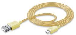 CellularLine Style&Color microUSB (žltý) - dátový kábel