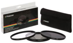 Polaroid 62mm UV MC, CPL, ND9 Filter kit 3ks