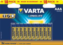 VARTA Longlife 10ks AAA, Batérie